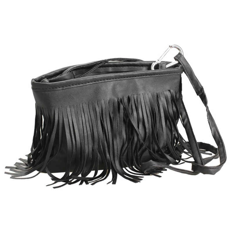 女性バッグ固体ミニヴィンテージタッセルバッグ女性メッセンジャークロスボディバッグハンドバッグpuレザーレディースメッセンジャー小さな電話Bag-30