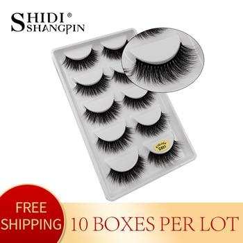 10 boxes wholesale false eyelashes natural long 3d mink lashes fake lashes eyelashes hand made false lashes for makeup lash G601