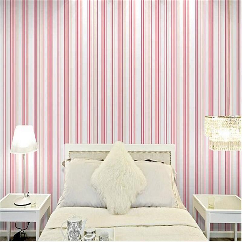 Beibehang Modern minimalis pakaian striped wallpaper ...