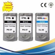 PG-37 PG37 PG 37 CL-38 CL38 CL38 чернильные картриджи восстановленные Pixma MP140 MP210 Ip2600 iP1900 MX300 MX310 MP190