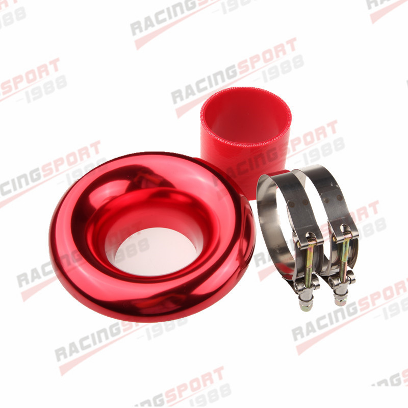 """3/"""" 76.2MM UNIVERSAL VELOCITY STACK FOR COLD//RAM ENGINE AIR INTAKE//TURBO HORN"""
