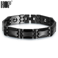 HIP Healthy Magnetic Bracelets Bangles Bio Elements Energy Tungsten Black Gold Germanium Bracelet For Men Jewelry