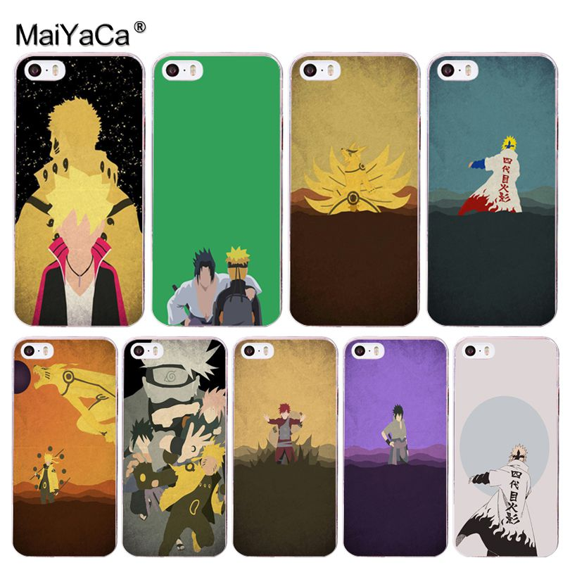 MaiYaCa Anime Naruto Minimalist Phone Accessories Case For Apple IPhone 8 7  6 6S Plus X 5 5S SE 5C 4 4S Cover In Half Wrapped Case From Cellphones ...