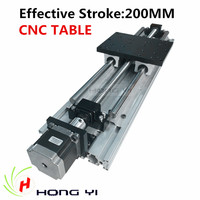 Best prices !! Linear Modules effective stroke 200mm SBR16 Linear Guides Ball screw NEMA 23 stepper motor for CNC table