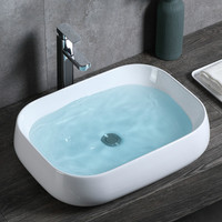 Balcony wash basin ceramic washbasin above counter basin oval household wash basin bathroom square art basin lo1211658