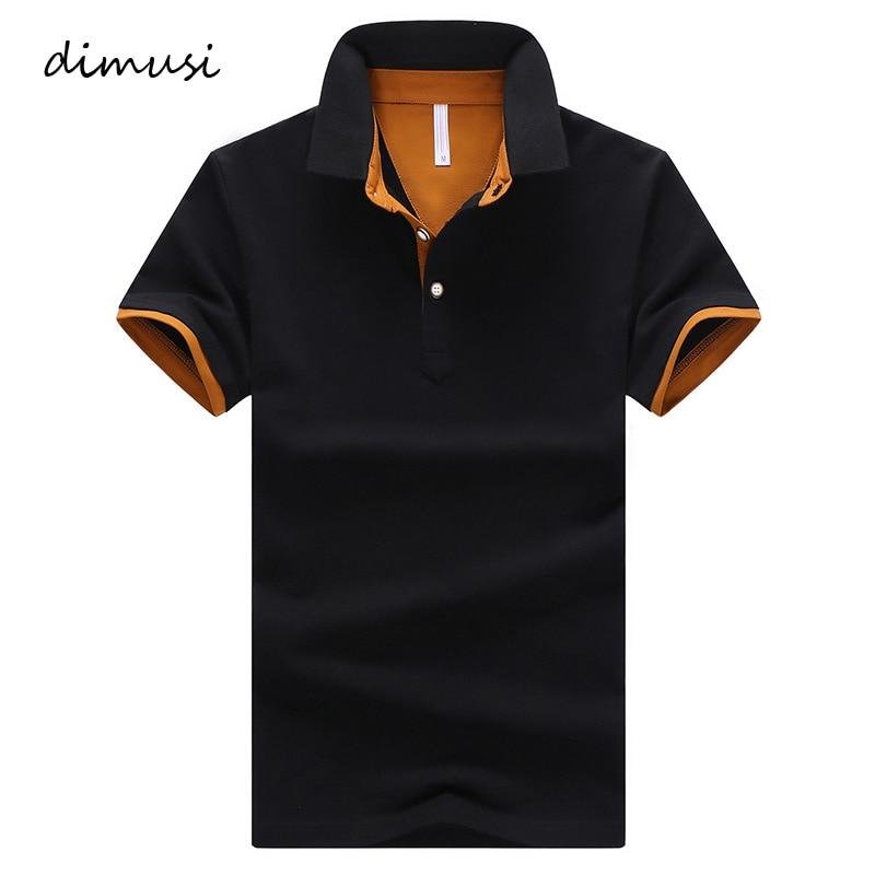 DIMUSI Mens   Polo   Shirts Summer Men Casual Short Sleeve Cotton Shirts Fashion   Polo   Tees Para Hombre Brand Clothing 4XL,YA764