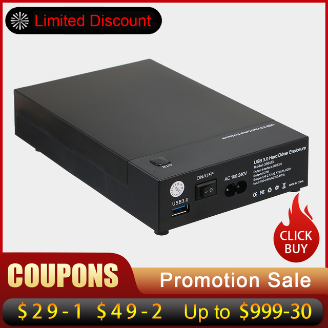 """USB 3.0 2.5 """"3.5"""" Sata Đĩa Ngoài mũi SSD Đĩa Hộp Hỗ Trợ UASP 8 TB Ổ OTB Một Cảm Ứng Dự Phòng"""