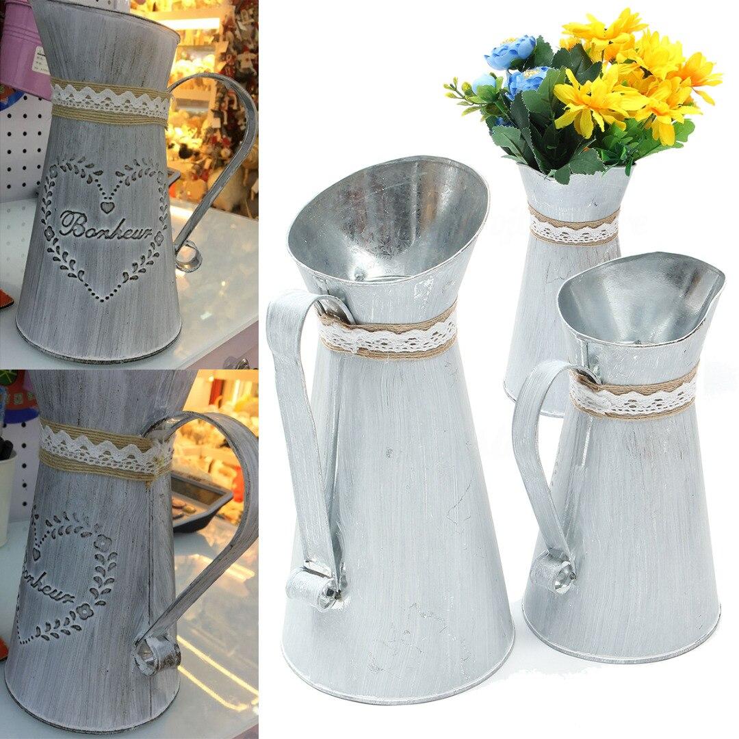 Grey Flowers /& Garden Rustic Jug