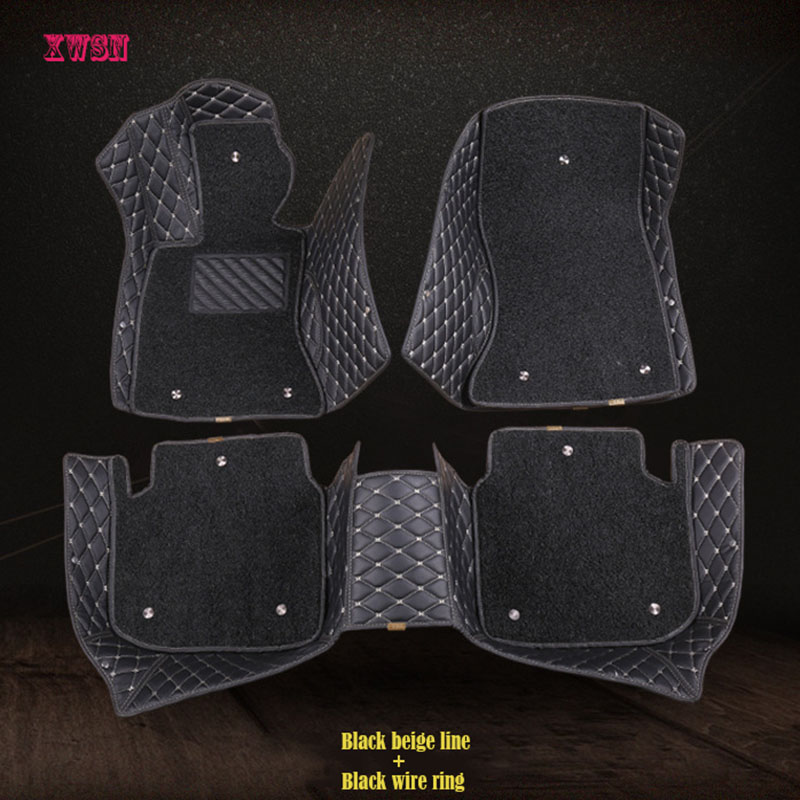 Custom car floor mats for Volkswagen vw passat b5 6 polo golf tiguan jetta touran touareg