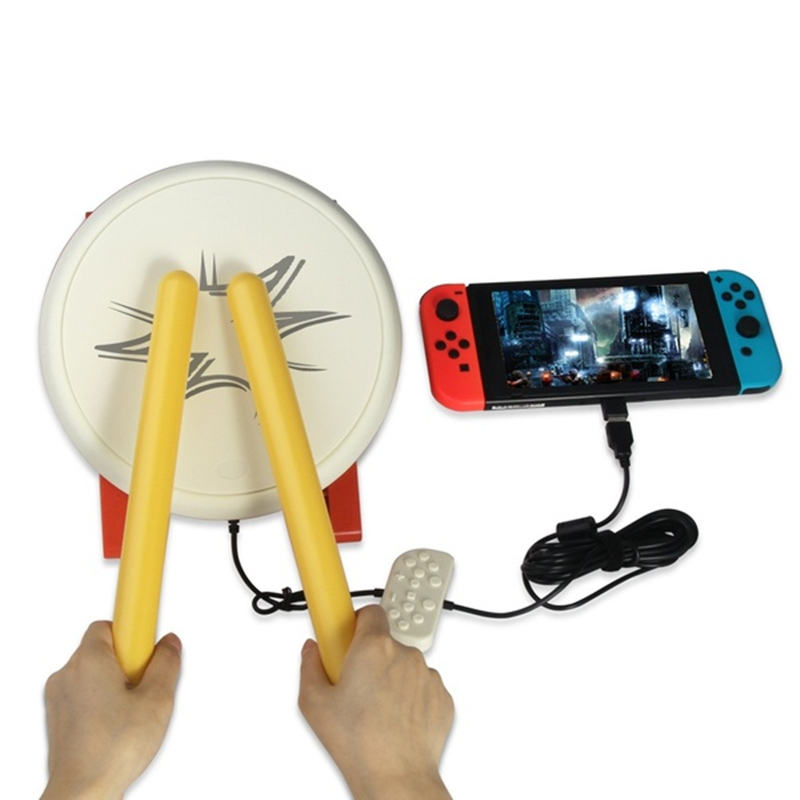 TAIKO DRUM Portable Drum Sticks Set For N-Switch Wii Remote Controller Console Video Game Accessories 1