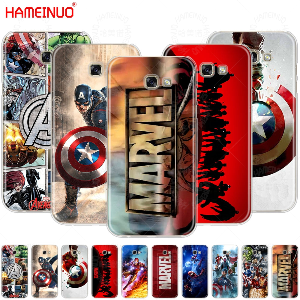 HAMEINUO Marvel Superheroes cell <font><b>phone</b></font> <font><b>case</b></font> cover for <font><b>Samsung</b></font> <font><b>Galaxy</b></font> <font><b>A3</b></font> A310 A5 A510 A7 A8 A9 2016 <font><b>2017</b></font> 2018 image
