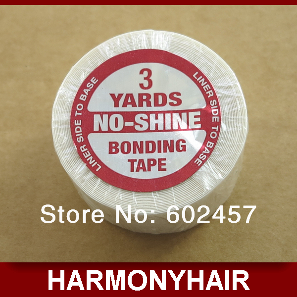 (10 rolls/lot) Cheap Shipping NO-SHINE Double-side tape rolls with 2.5cm wide 3 yards for tape hair extensions