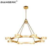 Nordic Post Modern Gold Luminaire LED Pendant Light Iron Glass Circular Design Hanging Lamp Home Decor Lights Lighting