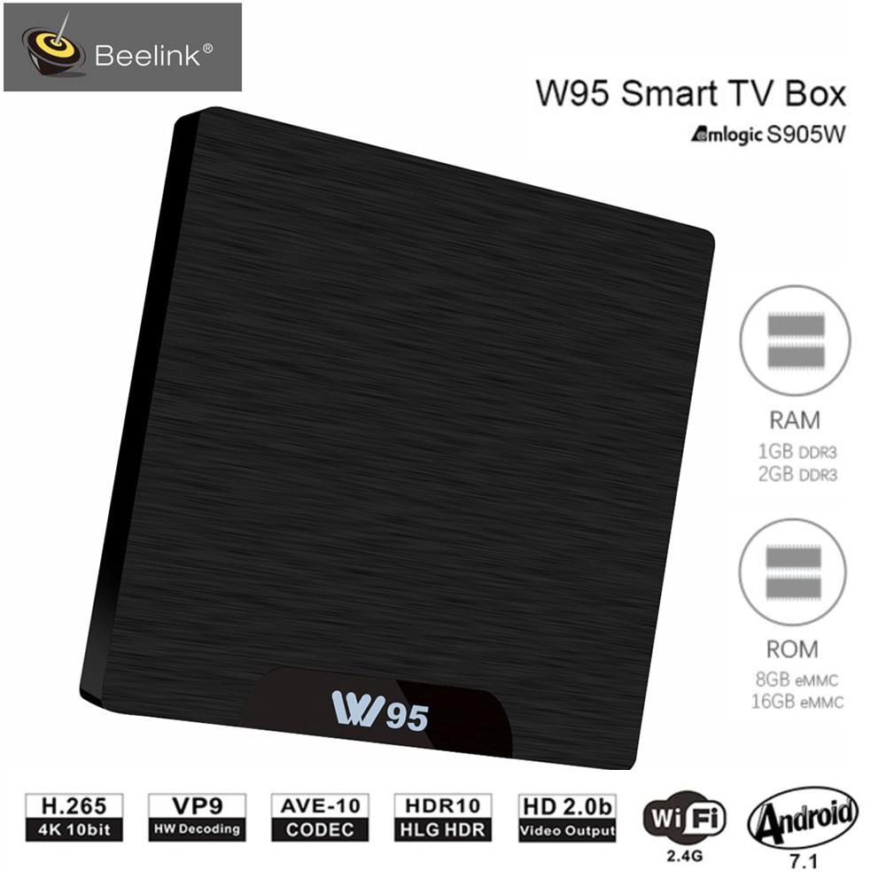Beelink S905W W95 TV Box Android 7.1 Amlogic Quad Core 2G RAM 16G ROM Set Top Box 2.4G Wi-fi Set Top Box 4 HDMI2.0 K Media Player