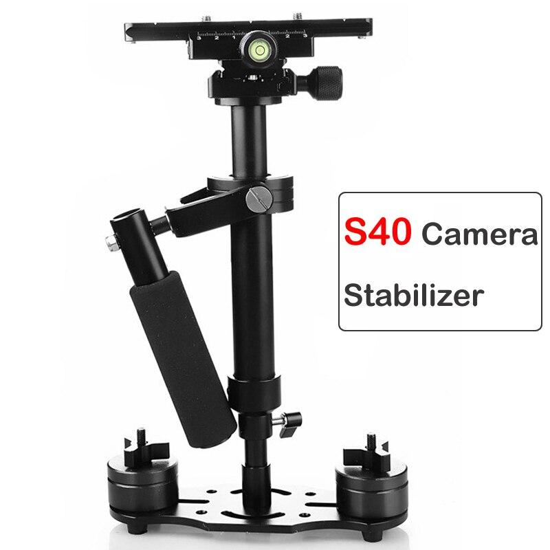 40cm foto vídeo aleación de aluminio estabilizador de mano disparo Steadycam DSLR Steadicam para Canon Nikon Sony DSLR videocámara-in Estabilizadores from Productos electrónicos    1