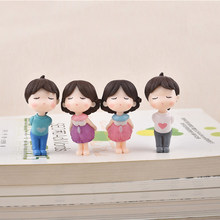 7 style Lovers Couple DIY Craft Fairy Garden Miniatures Micro Landscape Bonsai Garden Small Ornament Marry Wedding Decoration(China)