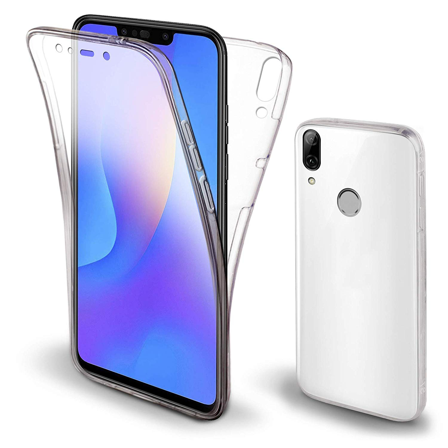 360 degree case For huawei Y6 Y7 Prime 2019 Pro 2019 transparent phone honor 8A silicone cover 2 in 1 back soft TPU front case in Fitted Cases from Cellphones Telecommunications
