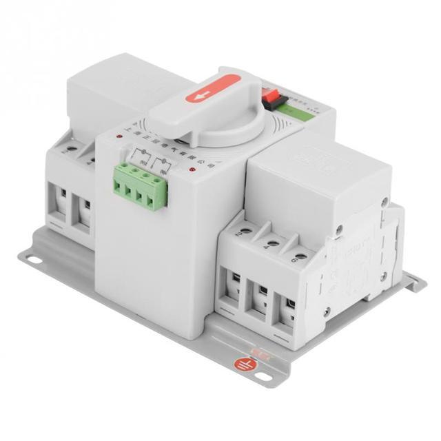 220V 63A 3P Mini Intelligent Dual Power Automatic Transfer Switch ...