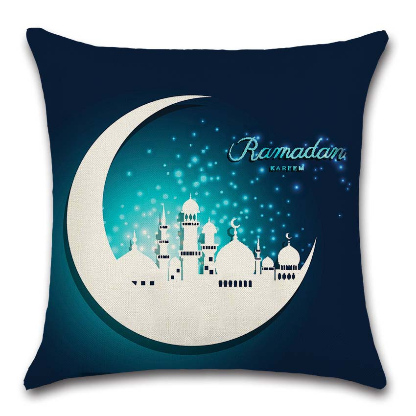 Islam moon mosque Ramadan Green Decor Cushion Cover Decoration Home house sofa chair seat living room pillow case friend gift