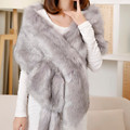 2017 New Fashion Long Large Fur Shawl Thick Faux Fur Scarf Imitated Fox Fur Cape Winter Women Soft Warm Fur Pashmina Wrap Scarf