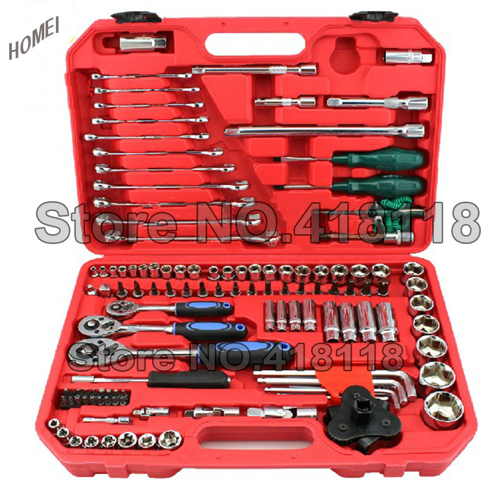 120pcs Hand Tool Set Of 1/4