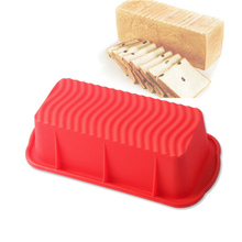 Big Silicone Rectangle Non Stick Bread Loaf Cake Mold Baking Pan Oven Mould for Large toast french