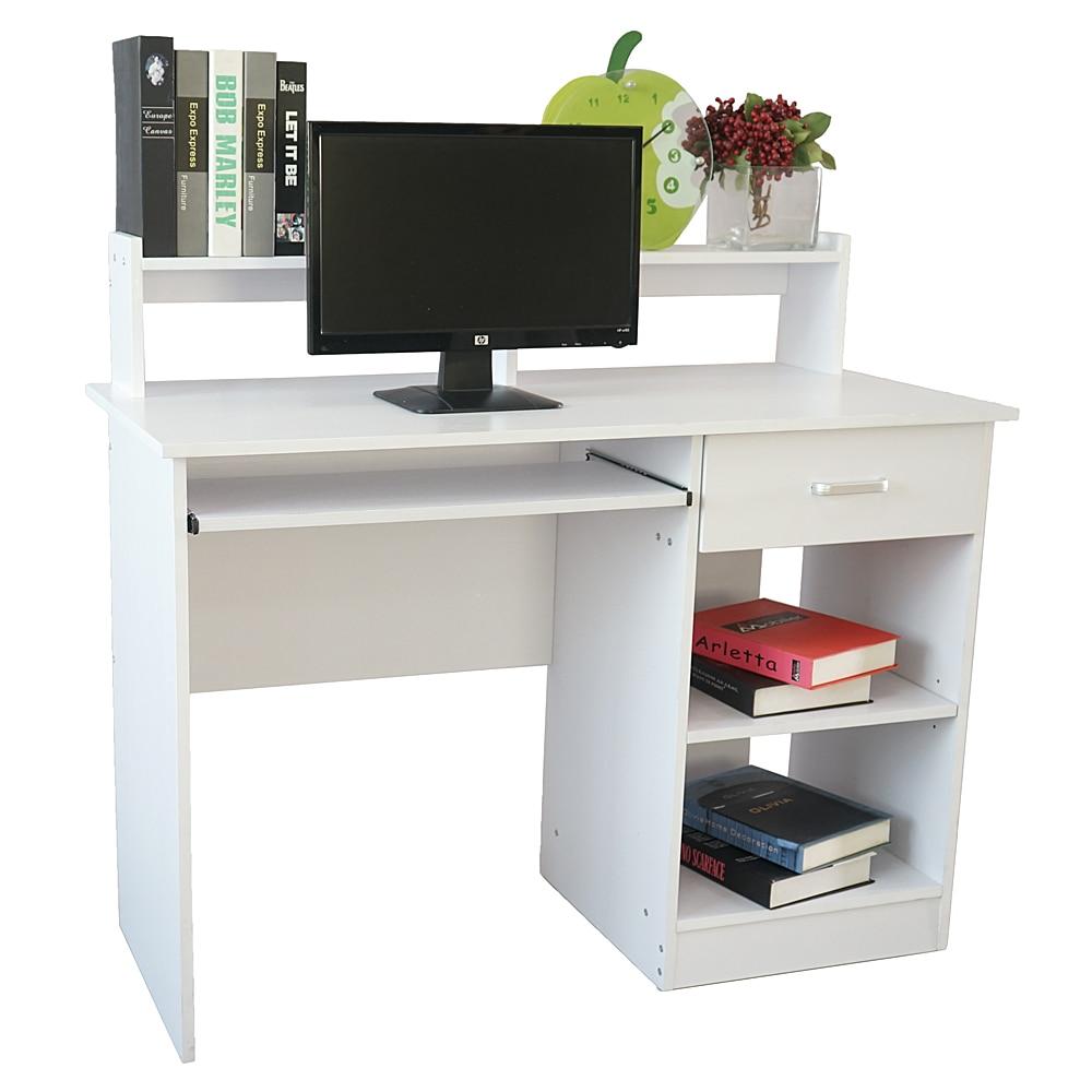 Modern E1 15MM Chipboard Computer Desk PC Table White Dropshipping