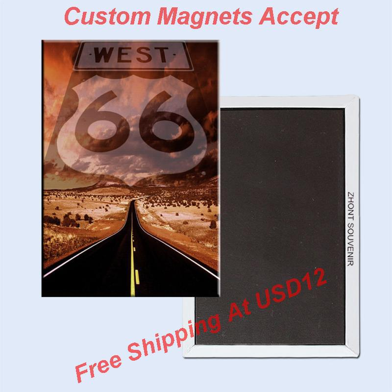 USA Travel Magnets Gifts ,U. S. Route 66 Souvenir Photo Fridge Magnet 5631 Travel Gift tourist attractions