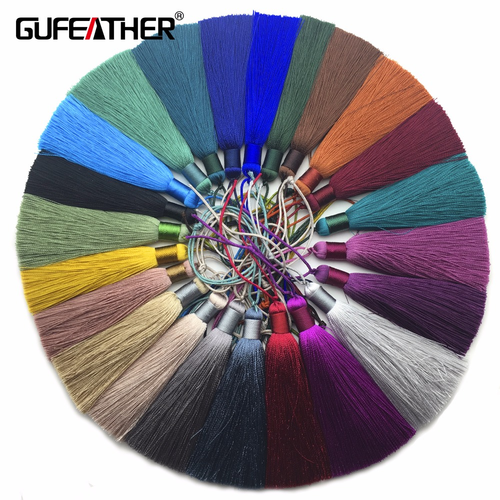 GUFEATHER L89/8cm/jewelry Accessories/accessories Parts/jewelry Findings/Silk Tassel/jewelry Making/hand Made/embellishments