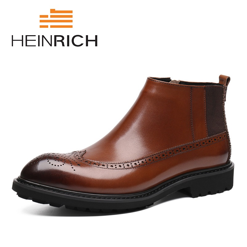 HEINRICH New Brand Men Shoes Winter Fashion Cashmere Snow Boots British Men's Martin Warm Boots Scarpe Antinfortunistica Uomo чайник электрический hotter hx 9016