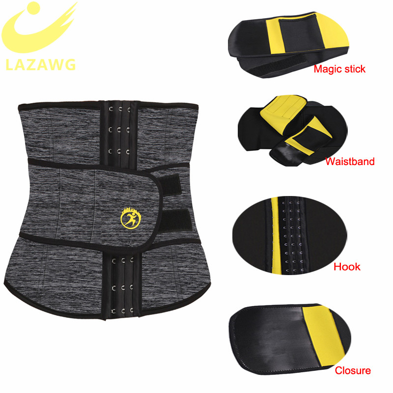 Image 3 - LAZAWG Women Waist Trainer Neoprene Belt Weight Loss Cincher Body Shaper Tummy Control Strap Slimming Sweat Fat Burning Girdle-in Waist Cinchers from Underwear & Sleepwears