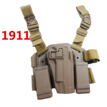 Tactical Army CQC Colt 1911 Holster Hunting Shooting Airsoft Military Belt Gun Pistol Leg Paddle gun Accessories