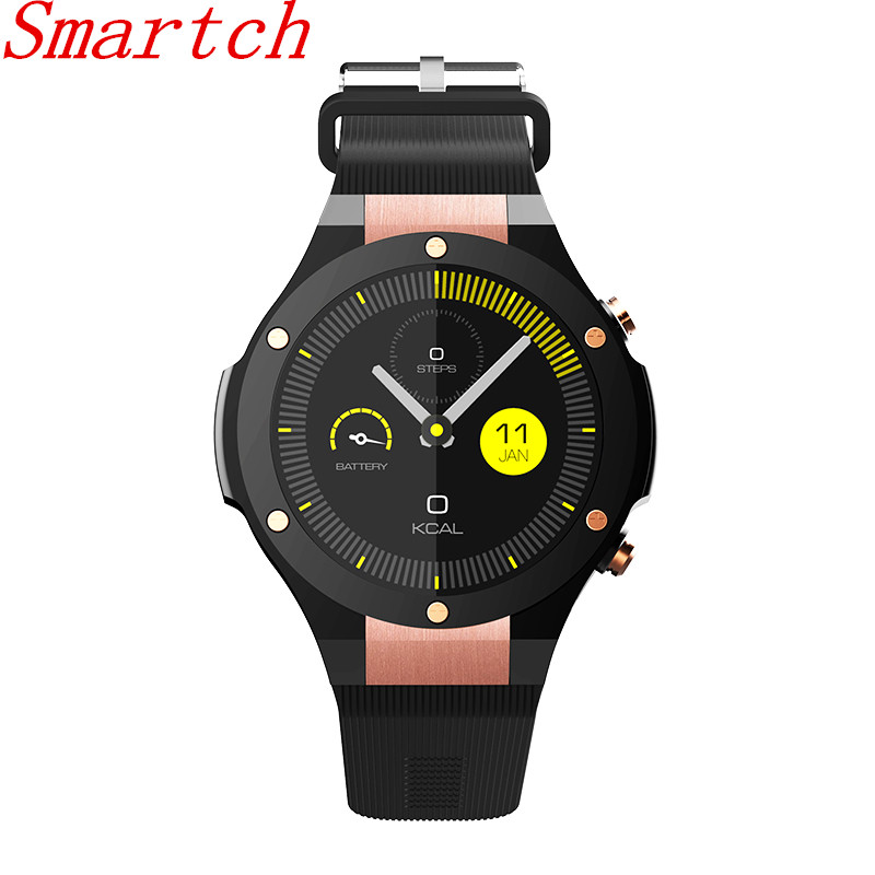 Smartch New H2 Smart Watch Android MTK6580 IP68 Waterproof 1.40inch 400*400 GPS Wifi 3G Heart Rate Monitor 16GB+1G For Android I new h1 smart watch mtk6572 ip68 waterproof 1 39inch 400 400 gps wifi 3g heart rate monitor 4gb 512mb for android ios camera 500w