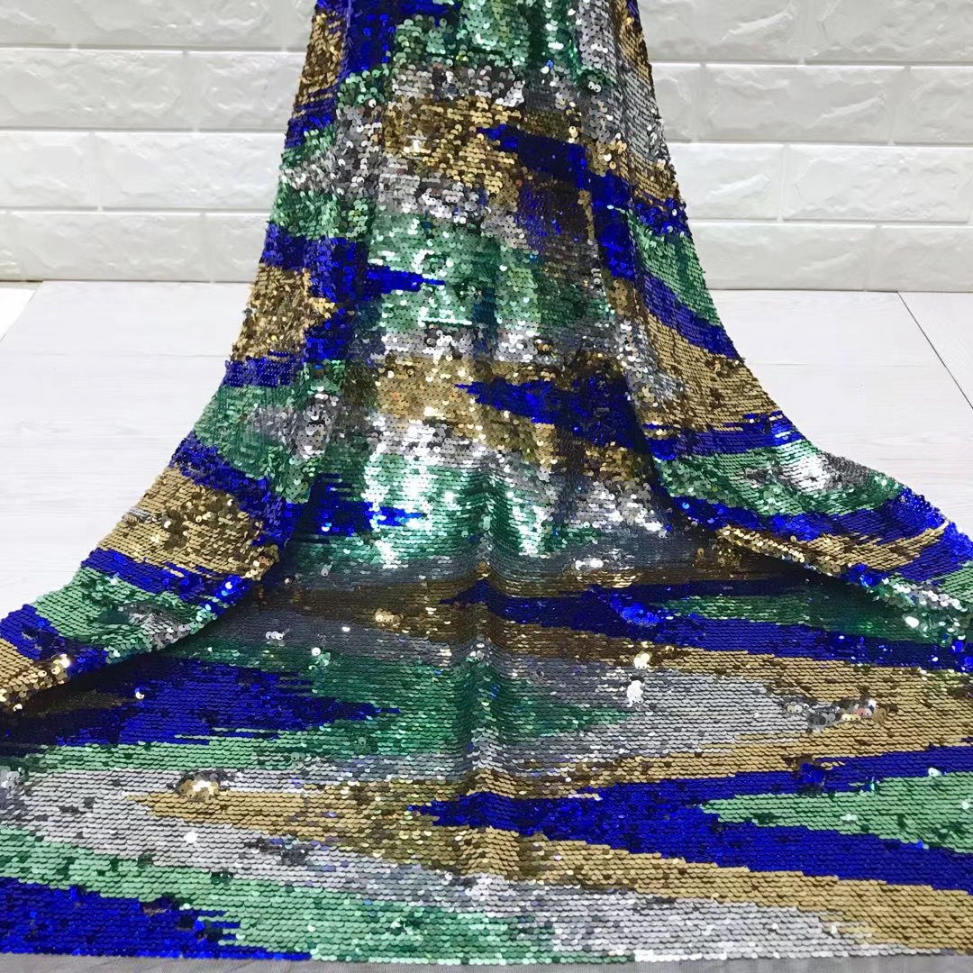 BEAUTIFICAL sequin net fabric lace african lace fabrics 5 yard mesh lace fabric tulle for dresses wedding ML5N332 in Lace from Home Garden