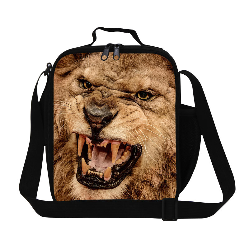 19 Fashion 3D Zoo Animals Leopard Panda Horse Printing Lunch Bags,Pet PugBulldogCatPig Lunchbox for Kids,Thermal Picnic Food Bag