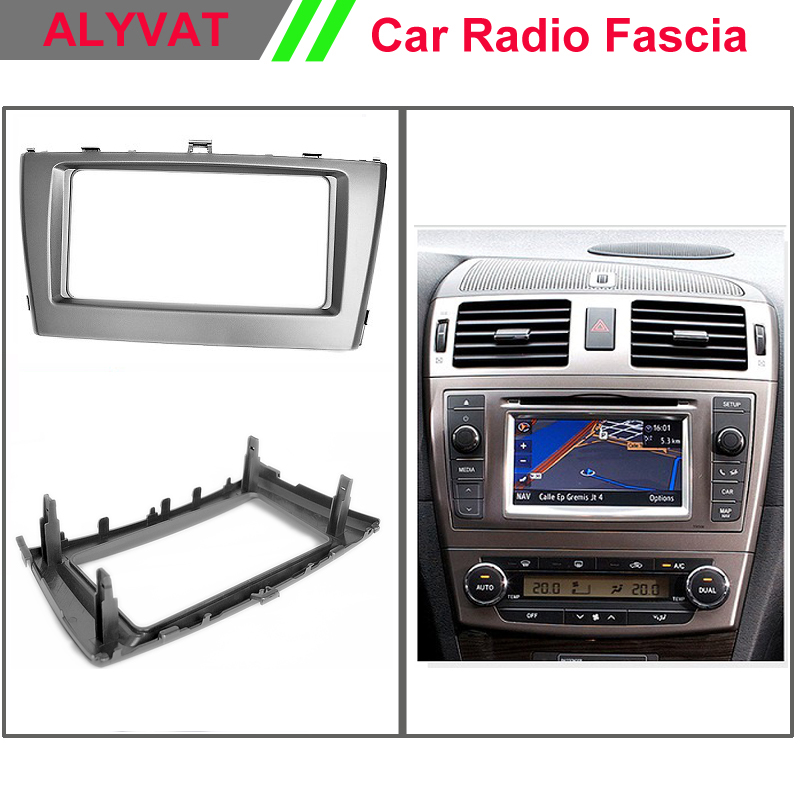 Free Shipping Car Radio Fascia Frame for TOYOTA Avensis 2011+;Fascia Dash CD Trim Installation Kit 11 405 car radio dash cd panel for kia skoda citigo volkswagen up seat mii stereo fascia dash cd trim installation kit