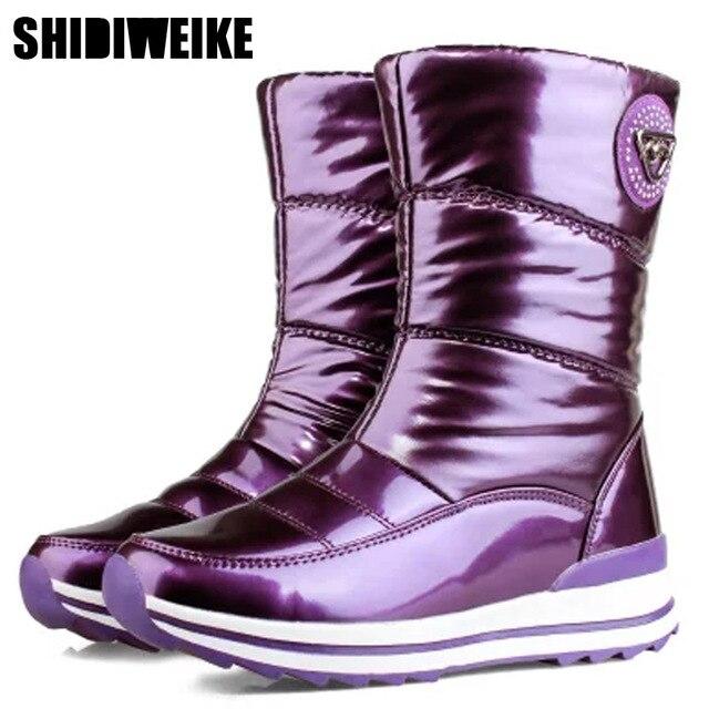 Высококачественные женские ботинки; Новое поступление 2020 года; Водонепроницаемая зимняя обувь на толстом меху; Нескользящие женские зимние ботинки на платформе; 40; n541