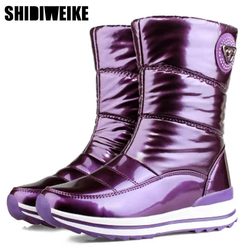 High quality women boots 2019 new arrivals waterproof thick fur winter shoes slip-resistant women platform snow boots -40 n541