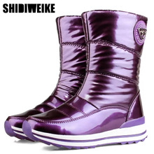 High quality women boots 2020 new arrivals waterproof thick fur winter shoes slip resistant women platform snow boots  40 n541