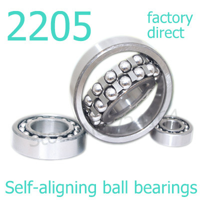 Set of 10 SELF ALIGNING DOUBLE ROW BALL BEARING 2207-2RS WITH 2 RUBBER SEALS