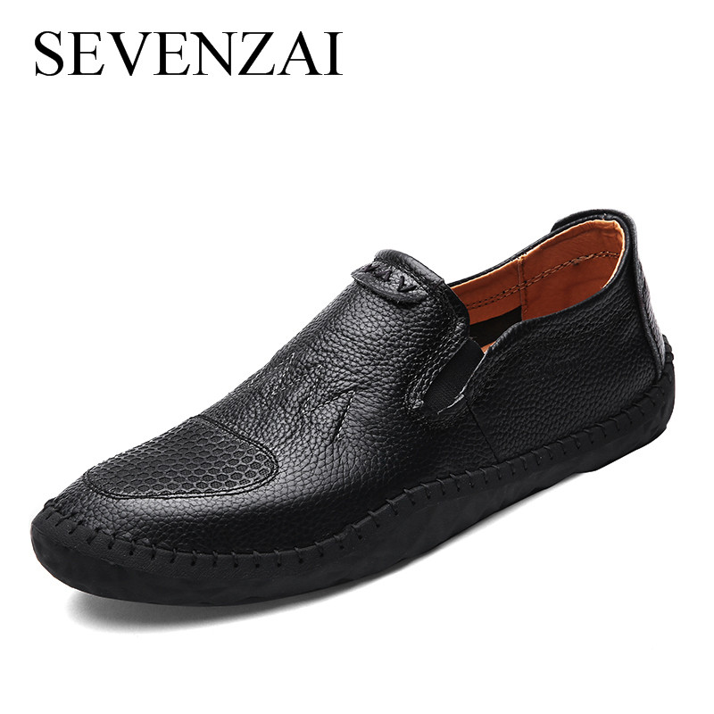 Men Spring Shoes Casual Soft Comfortable Male Fashion Leather Loafers Spiked Loafers Men Casual Flats Mens Casual Shoes Hot Sale