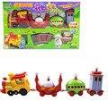 Ranura de la vía del tren Thomas Tren juguetes educativos Niños juguete En El Serie de plástico bebé juguetes con Música y Luz +