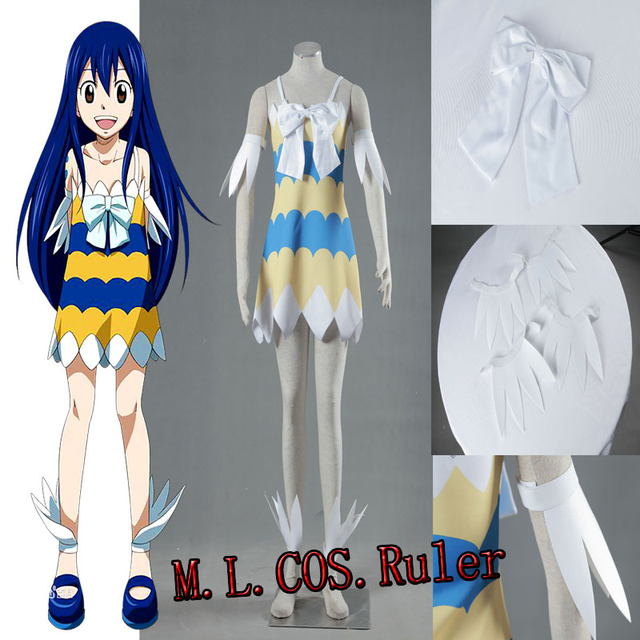 Popular Anime Cosplay Fairy Tail Wendy Marvell Cosplay Costume Cute