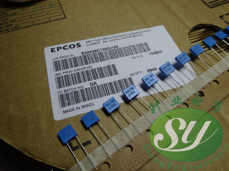 2019 hot sale 20PCS/50PCS EPCOS 0.0068uf/100v 6.8nf 6800pf 682 New Thin Film Capacitors B32529C1682J free shipping2019 hot sale 20PCS/50PCS EPCOS 0.0068uf/100v 6.8nf 6800pf 682 New Thin Film Capacitors B32529C1682J free shipping