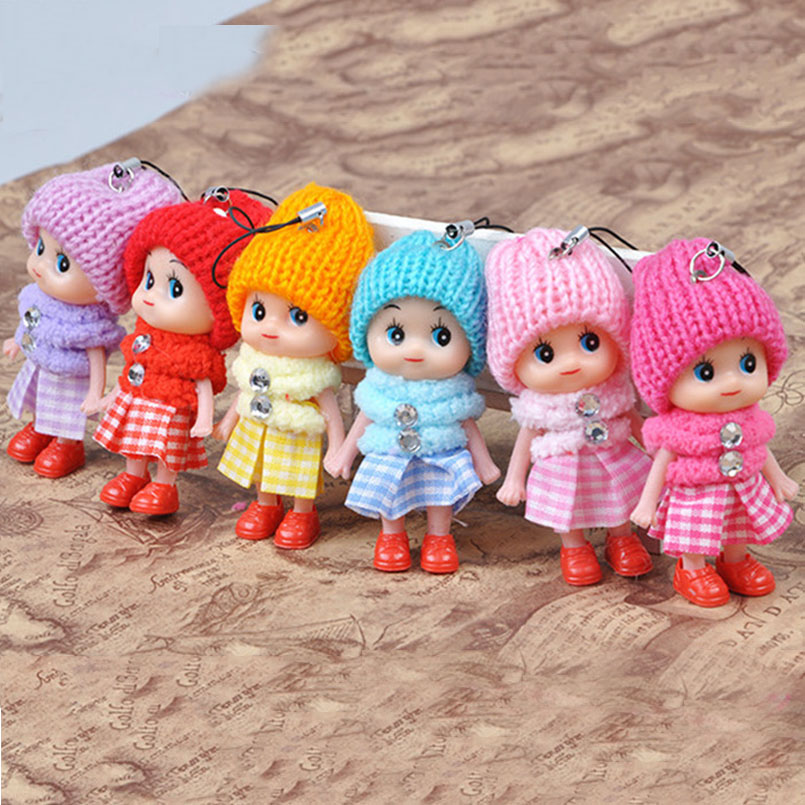 5Pcs/set 8cm Mini Cute Plush Doll Toys For Girls Learninf Princess Baby Dolls Stuffed Similation Soft Toy Children Birthday Gifs