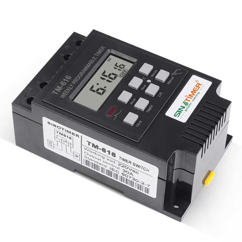 TM-616 Electronic Weekly Programmable Digital Timer Switch Relay Din Rail Mount#