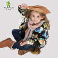 KAMIWA 2016 Owl Printing Girls Winter Coats And Jackets Kids Outwear Warm Down Padded Clothes Parka Children Baby Girls Clothing