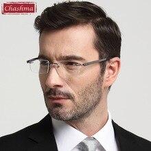 Chashma top qualität klaren gläsern brillen großen rahmen männer optische gläser rahmen titanium brillen randlose brille