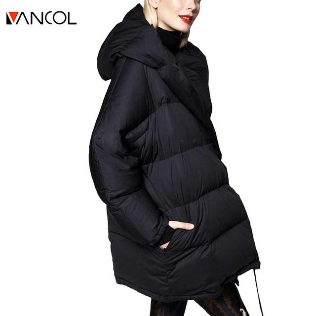 Diseño de marca Rosa Gris Negro Espesar Acolchado de Pato Blanco Abajo Botón Parka Chaqueta Suelta Nuevo 2015 de Invierno de Algodón Abrigo de Las Mujeres invierno