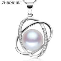 ZHBORUINI Pearl Necklace 925 Sterling Silver Jewelry For Women Pearl Jewelry Natural Freshwater Pearl Pendants Women Accessories